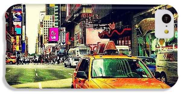 City iPhone 5c Case - Times Square Taxi by Luke Kingma