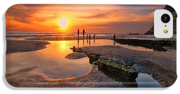 iPhone 5c Case - Ultra Low Tide Sunset At A North San by Larry Marshall