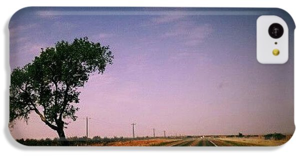 Follow iPhone 5c Case - #usa #america #road #tree #sky by Torbjorn Schei