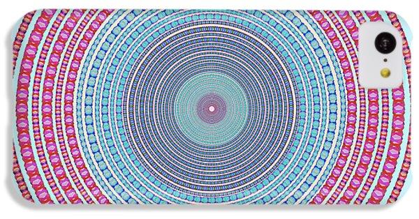 Flow iPhone 5c Case - Vintage Color Circle by Atiketta Sangasaeng