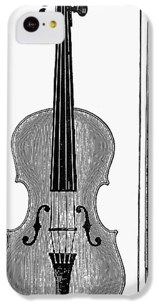 Violin iPhone 5c Case - Violin And Bow by Granger