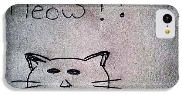 Follow iPhone 5c Case - What My Room Mates Draw! #cat #drawing by Abdelrahman Alawwad