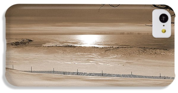 Winter Beach Morning Sepia IPhone 5c Case by Bill Pevlor