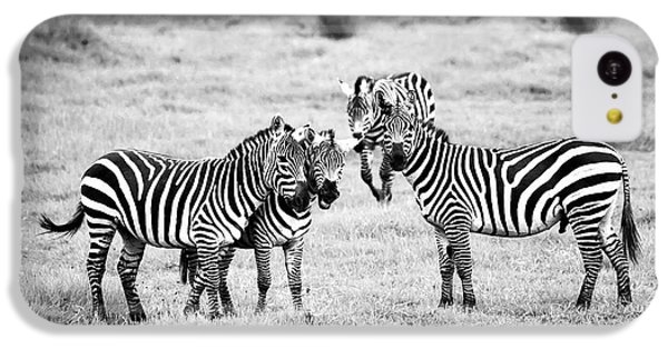 Zebras In Black And White IPhone 5c Case