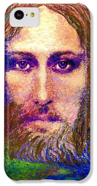 Figurative iPhone 5c Case -  Contemporary Jesus Painting, Chalice Of Life by Jane Small