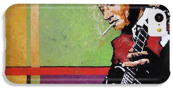 Jazz iPhone 5c Case -  Jazz Guitarist by Yuriy Shevchuk