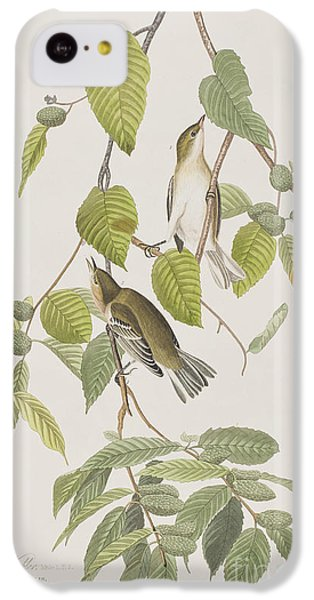 Autumnal Warbler IPhone 5c Case by John James Audubon