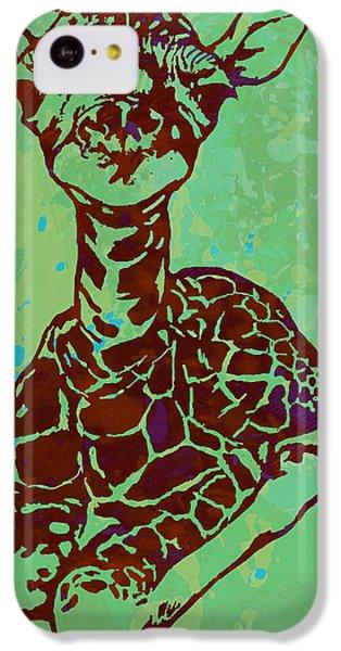Baby Giraffe - Pop Modern Etching Art Poster IPhone 5c Case by Kim Wang