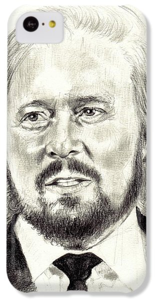 Eric Clapton iPhone 5c Case - Barry Gibb Portrait by Suzann's Art