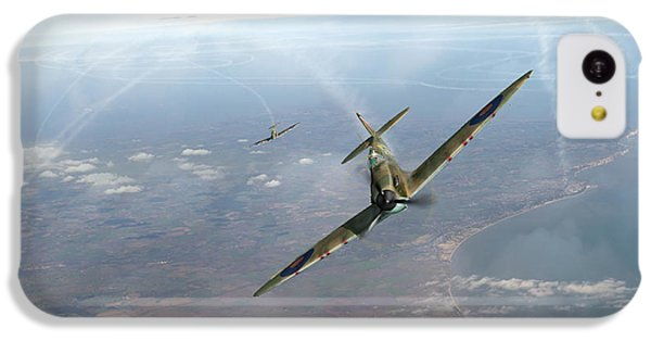 IPhone 5c Case featuring the photograph Battle Of Britain Spitfires Over Kent by Gary Eason