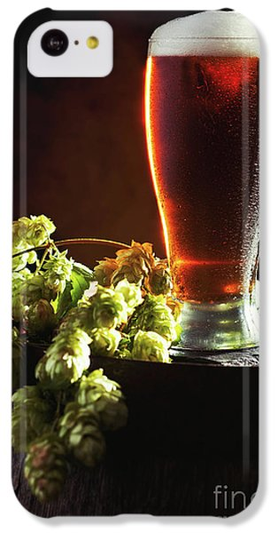 Beer And Hops On Barrel IPhone 5c Case by Amanda Elwell
