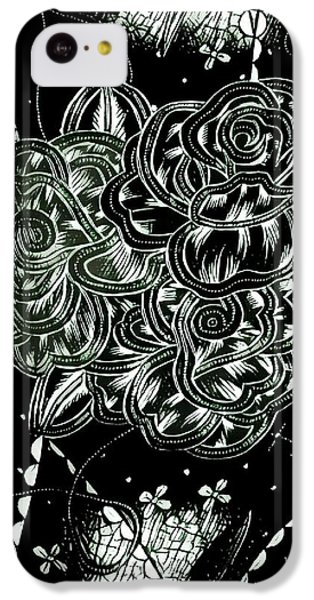 Black Flower IPhone 5c Case