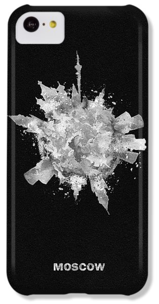 Moscow Skyline iPhone 5c Case - Black Skyround Art Of Moscow, Russia by Inspirowl Design