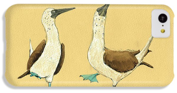 Blue Footed Boobies IPhone 5c Case by Juan  Bosco