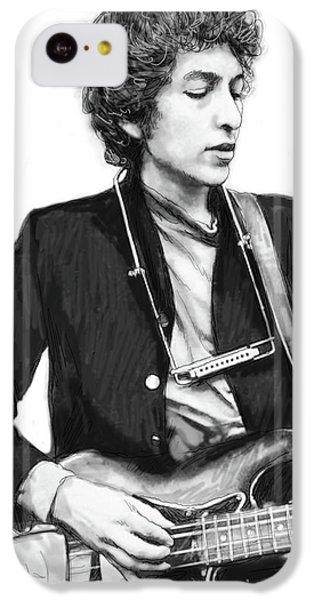 Bob Dylan Drawing Art Poster IPhone 5c Case by Kim Wang