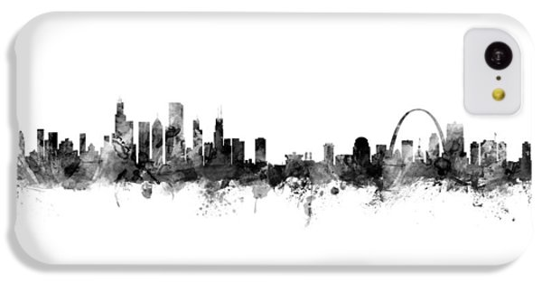 Chicago Skyline iPhone 5c Case - Chicago And St Louis Skyline Mashup by Michael Tompsett