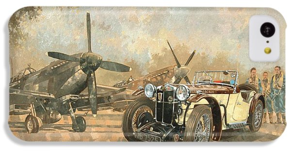 Car iPhone 5c Case - Cream Cracker Mg 4 Spitfires  by Peter Miller