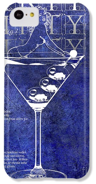 Dirty Dirty Martini Patent Blue IPhone 5c Case