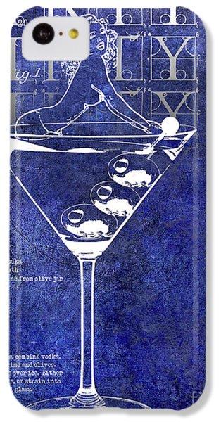 Dirty Dirty Martini Patent Blue IPhone 5c Case by Jon Neidert