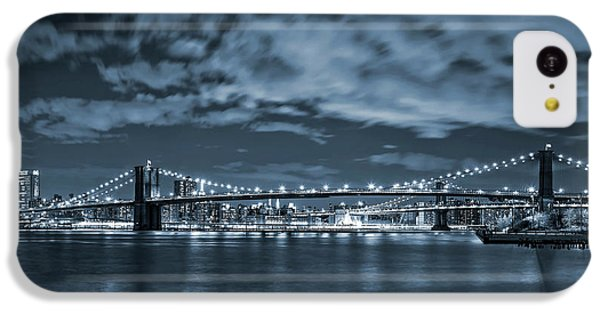 Brooklyn Bridge iPhone 5c Case - East River View by Az Jackson