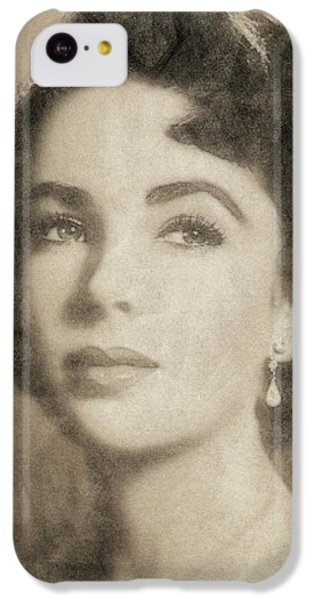 Elizabeth Taylor iPhone 5c Case - Elizabeth Taylor Hollywood Actress by John Springfield