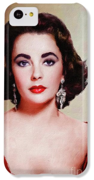Elizabeth Taylor iPhone 5c Case - Elizabeth Taylor Hollywood Actress by Mary Bassett