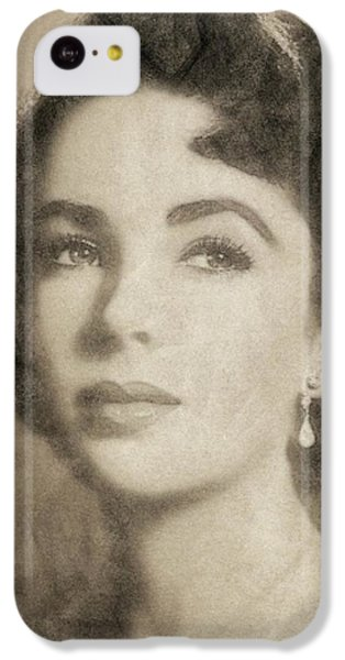 Elizabeth Taylor, Vintage Hollywood Legend By John Springfield IPhone 5c Case by John Springfield