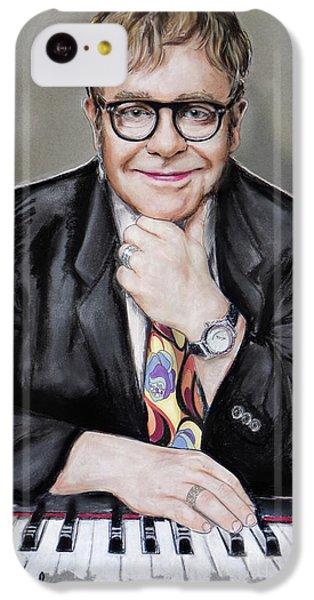 Elton John iPhone 5c Case - Elton John by Melanie D