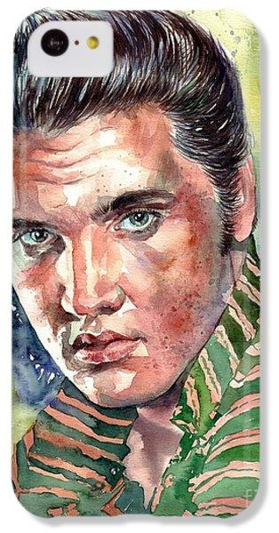 Elvis Presley iPhone 5c Case - Elvis Presley Portrait by Suzann's Art