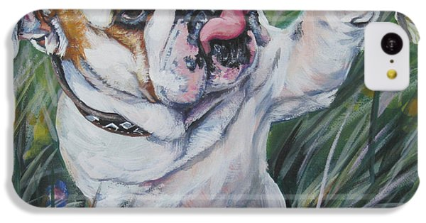 English Bulldog IPhone 5c Case by Lee Ann Shepard
