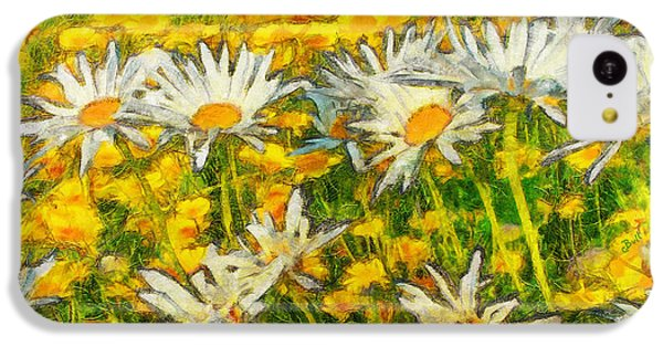 Field Of Daisies IPhone 5c Case by Claire Bull