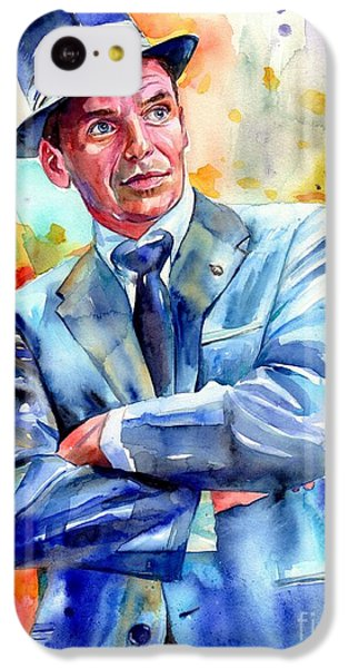 Frank Sinatra iPhone 5c Case - Frank Sinatra Young Painting by Suzann's Art