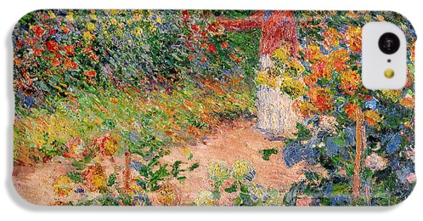 Garden At Giverny IPhone 5c Case by Claude Monet