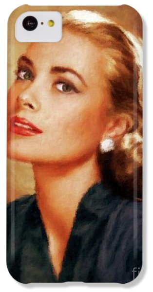 Grace Kelly iPhone 5c Case - Grace Kelly, Actress And Princess by Mary Bassett
