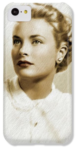 Grace Kelly iPhone 5c Case - Grace Kelly, Vintage Actress by Mary Bassett