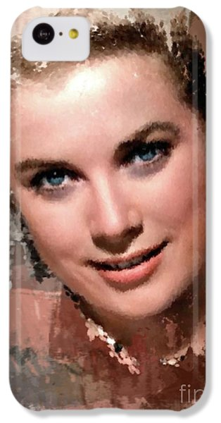 Grace Kelly iPhone 5c Case - Grace Kelly, Vintage Hollywood Actress by Mary Bassett
