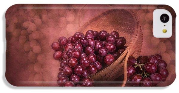 Grapes In Wicker Basket IPhone 5c Case by Tom Mc Nemar