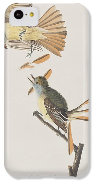Flycatcher iPhone 5c Case - Great Crested Flycatcher by John James Audubon