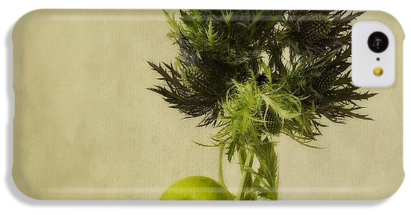 Still Life iPhone 5c Case - Green Apples And Blue Thistles by Priska Wettstein
