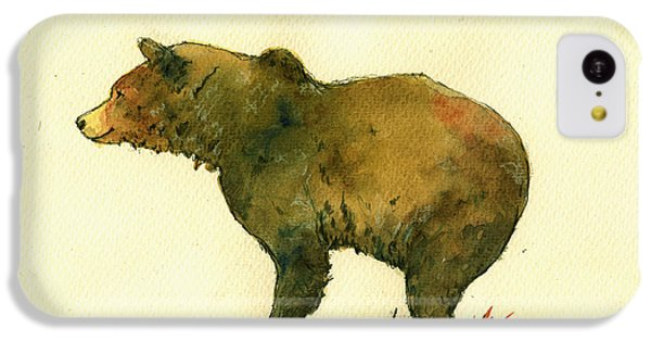 Bear iPhone 5c Case - Grizzly Bear Watercolor Painting by Juan  Bosco