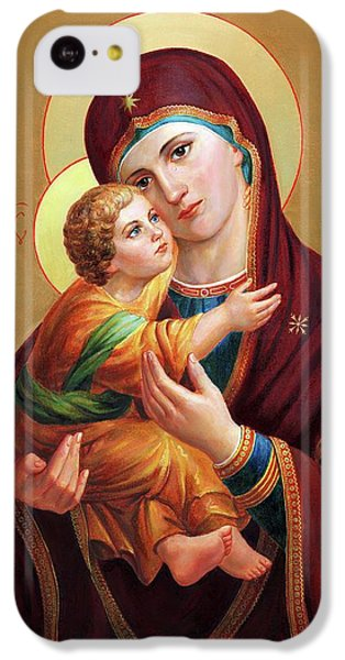 iPhone 5c Case - Holy Mother Of God - Blessed Virgin Mary by Svitozar Nenyuk