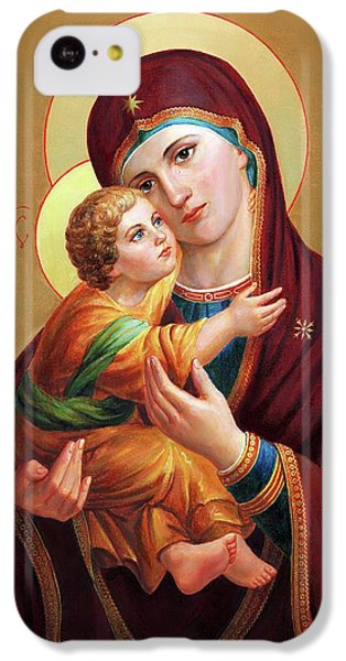 iPhone 5c Case - Holy Mother Of God - Blessed Virgin Mary by Svitozar Nenyuk