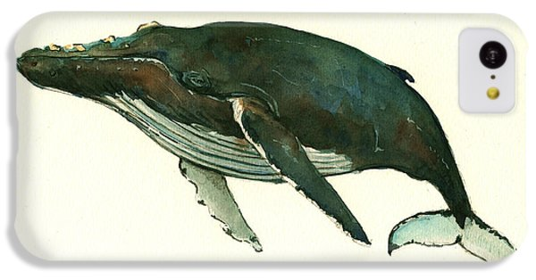 Humpback Whale  IPhone 5c Case by Juan  Bosco