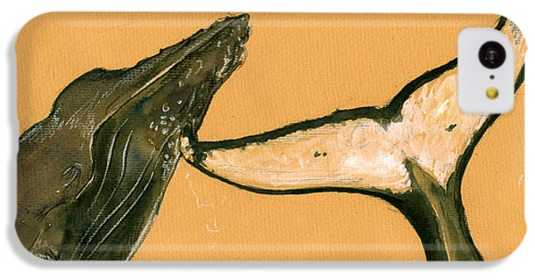 Humpback Whale Painting IPhone 5c Case by Juan  Bosco