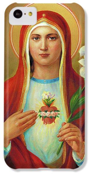 iPhone 5c Case - Immaculate Heart Of Mary by Svitozar Nenyuk
