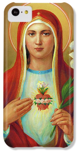 iPhone 5c Case - Immaculate Heart Of Mary by Svitozar Nenyuk