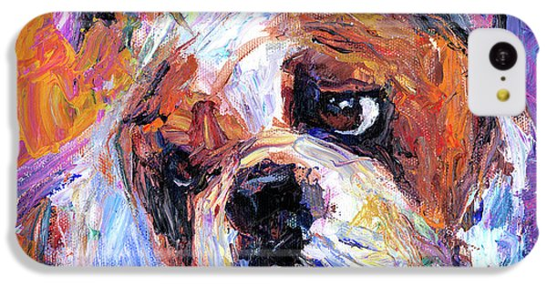 Impressionistic Bulldog Painting  IPhone 5c Case by Svetlana Novikova