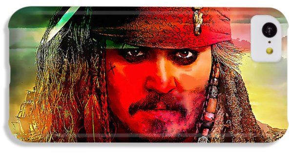 Johnny Depp Painting IPhone 5c Case by Marvin Blaine
