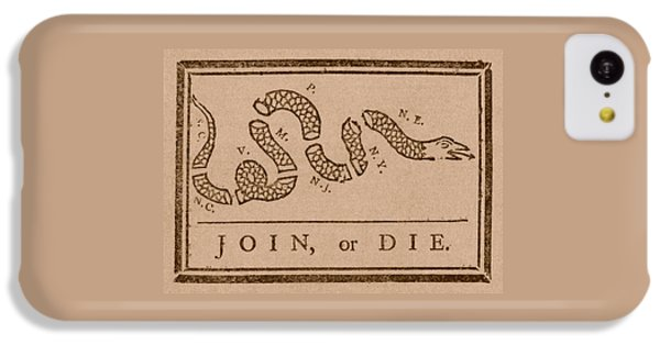 Reptiles iPhone 5c Case - Join Or Die by War Is Hell Store
