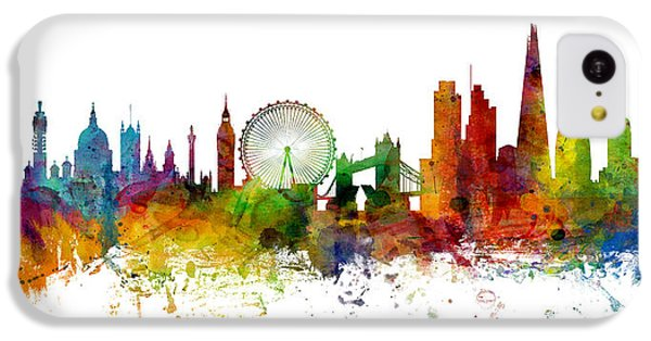 London England Skyline Panoramic IPhone 5c Case by Michael Tompsett
